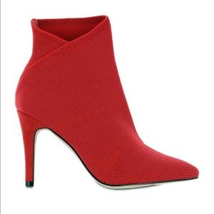 MIA Margerie Sock Red Heel Booties